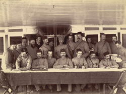 Group of officers taken on board the Irrawaddy Flotilla Co's Steamer